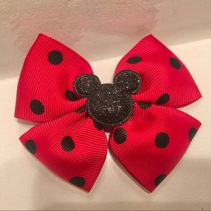 Kids Red Mickey Mouse Bow